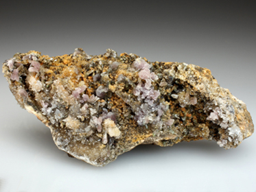 Pinkish crystals of Manganoan Adamite from the Lavrion Mines.