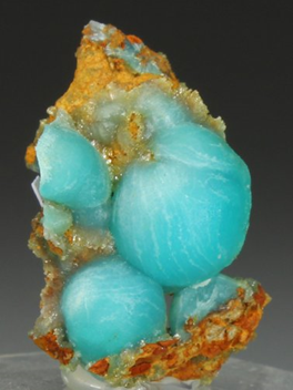 Cuprian Adamite. This specimen was depicted on the front cover of German Magazine Lapis in the 19999 Lavrion issue. From the Serpieri Mine.